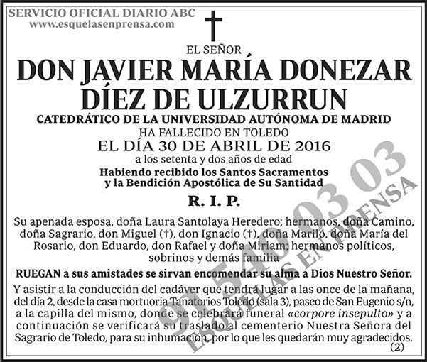 Javier María Donezar Díez de Ulzurrun